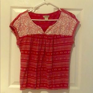 Red Lucky Brand shirt